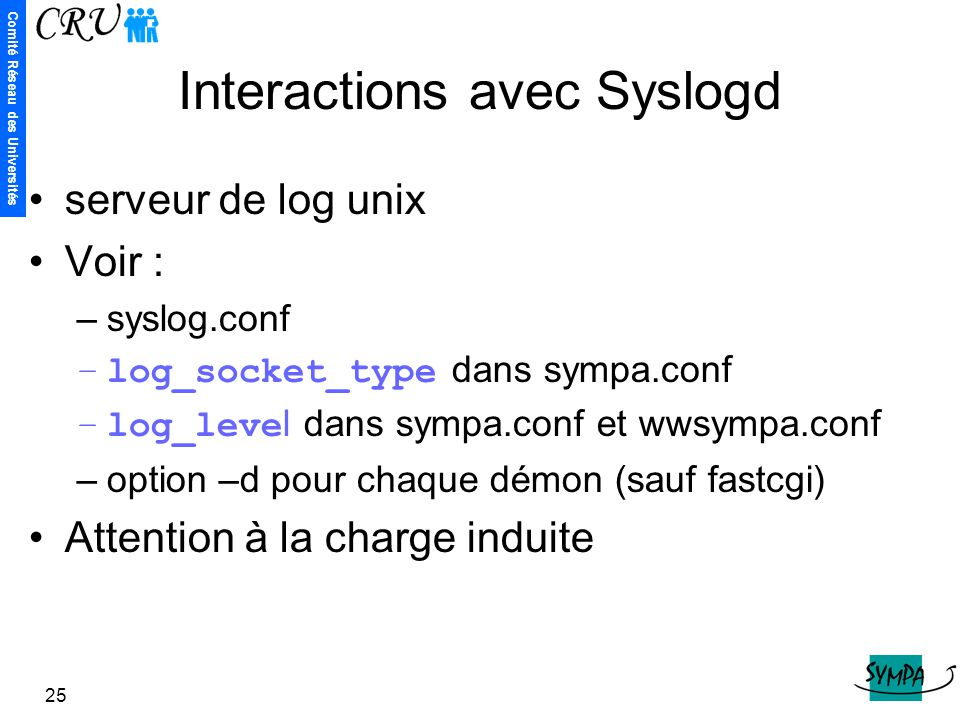 Interactions avec Syslogd