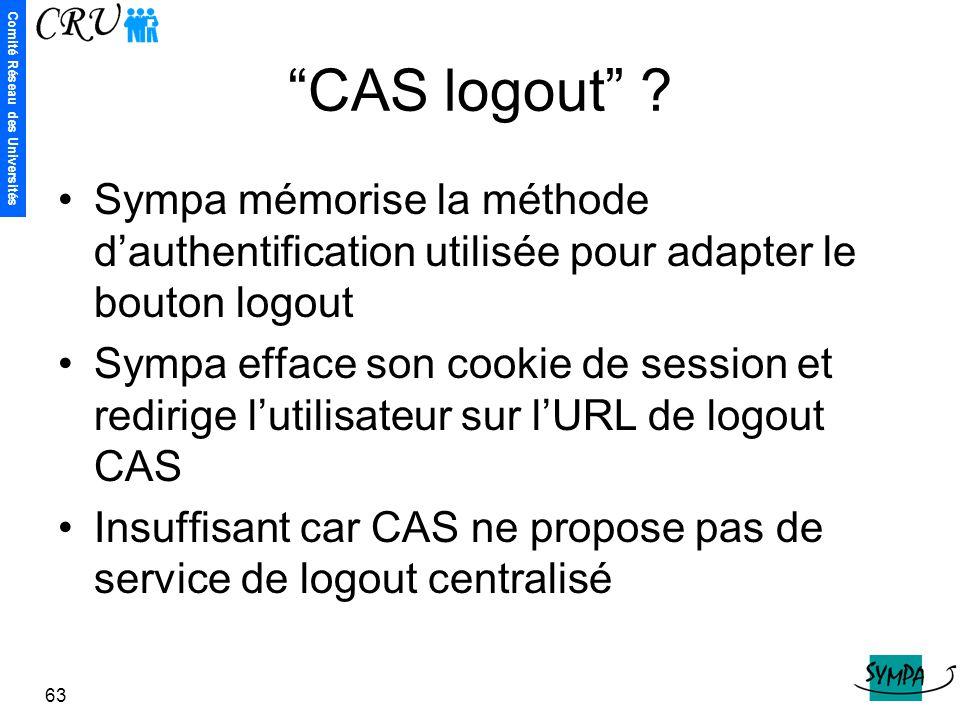 CAS logout Sympa mémorise la méthode d'authentification utilisée pour adapter le bouton logout.