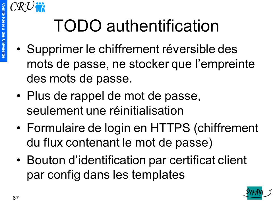TODO authentification