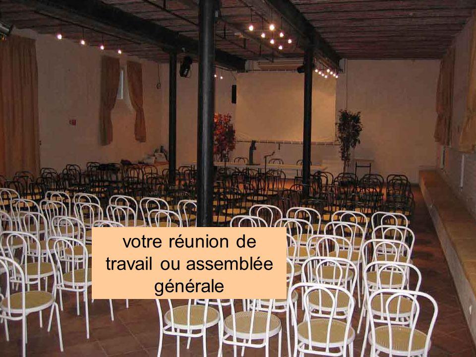 votre réunion de travail ou assemblée générale
