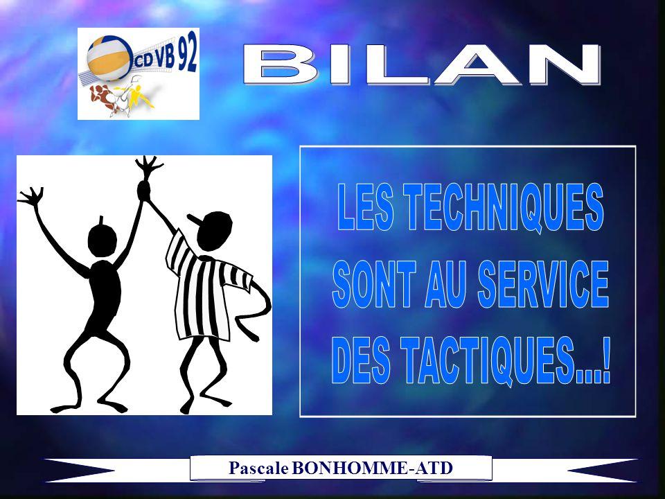LES TECHNIQUES SONT AU SERVICE DES TACTIQUES...!
