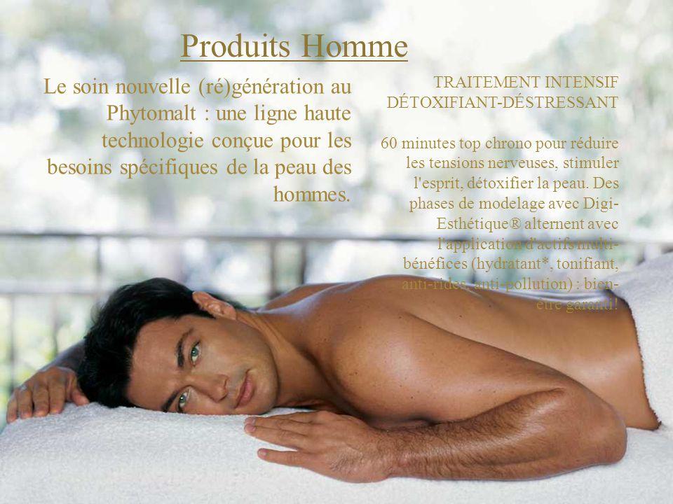Produits Homme Le soin nouvelle (ré)génération au Phytomalt : une ligne haute technologie conçue pour les besoins spécifiques de la peau des hommes.