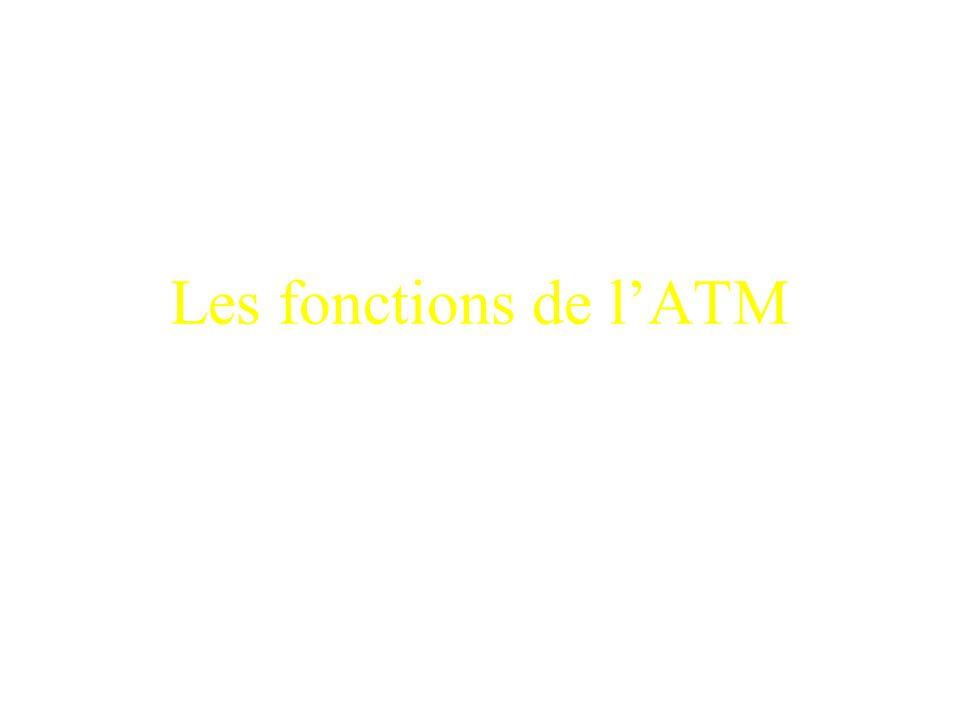 Les fonctions de l'ATM