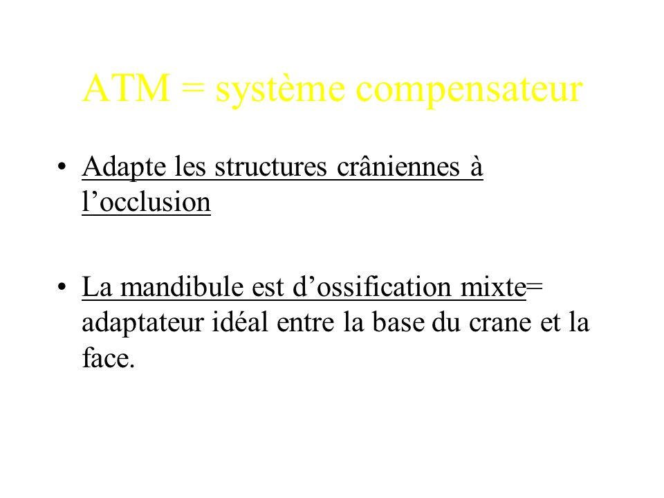 ATM = système compensateur