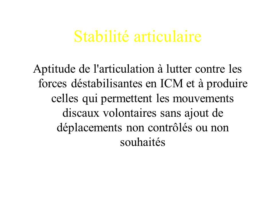 Stabilité articulaire