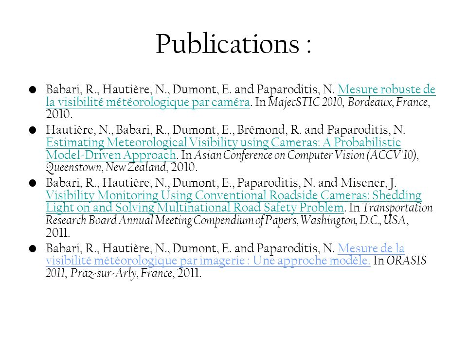 Publications :