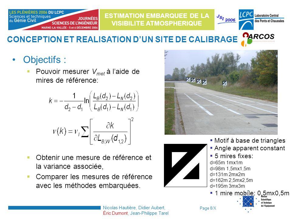 CONCEPTION ET REALISATION D'UN SITE DE CALIBRAGE