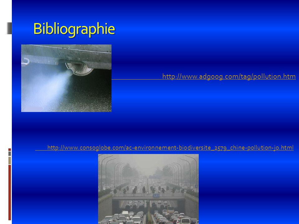 Bibliographie http://www.adgoog.com/tag/pollution.htm