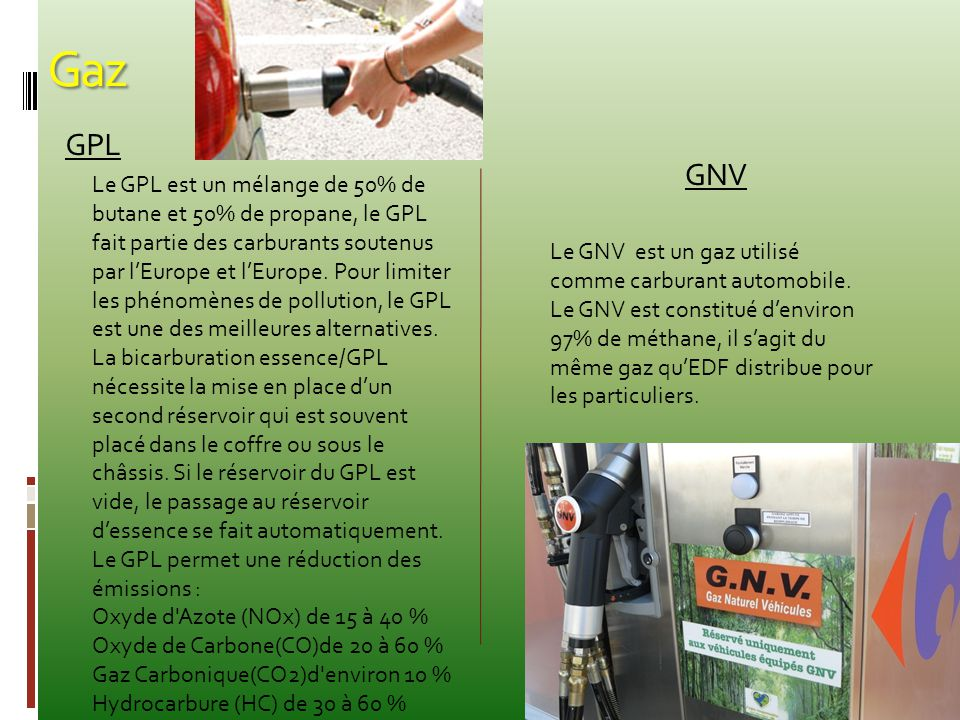 Gaz GPL. GNV.