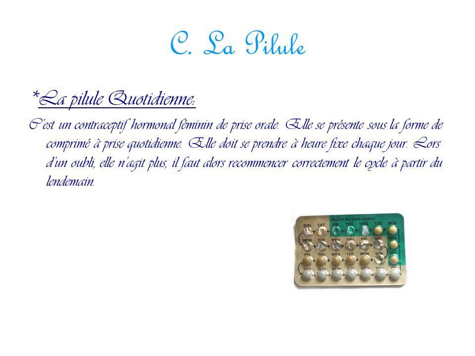 C. La Pilule *La pilule Quotidienne: