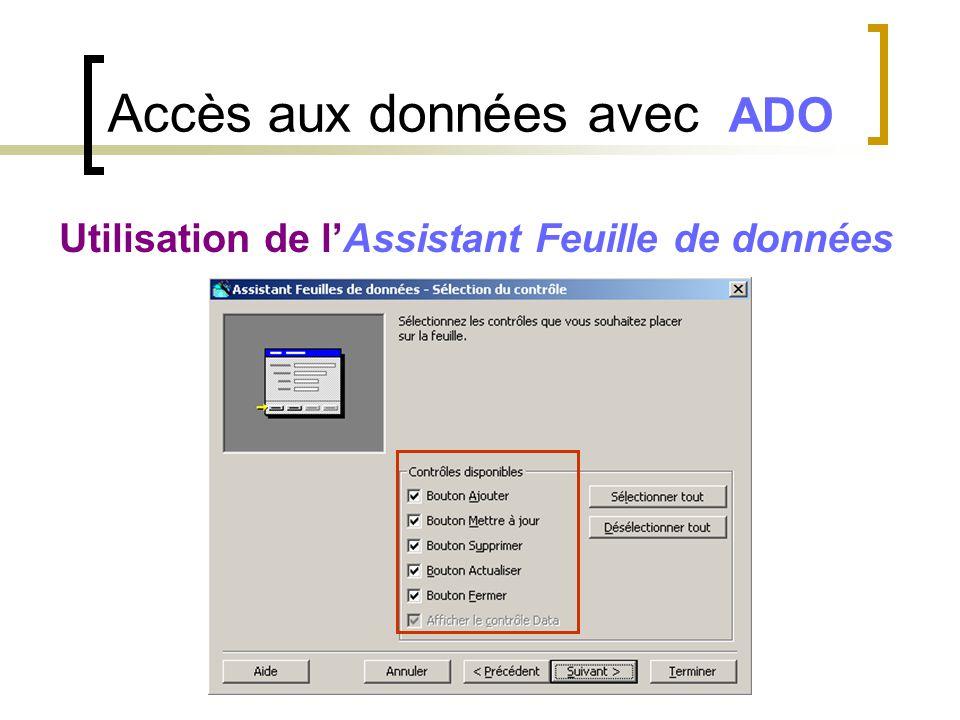 Accès aux données avec ADO