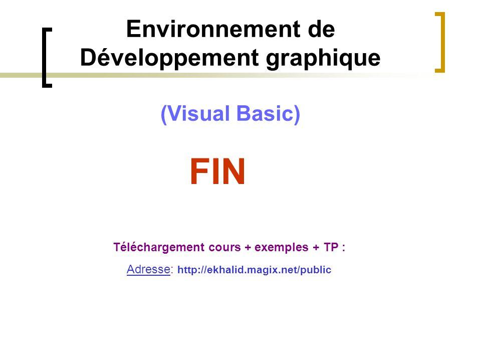 FIN Environnement de Développement graphique (Visual Basic)