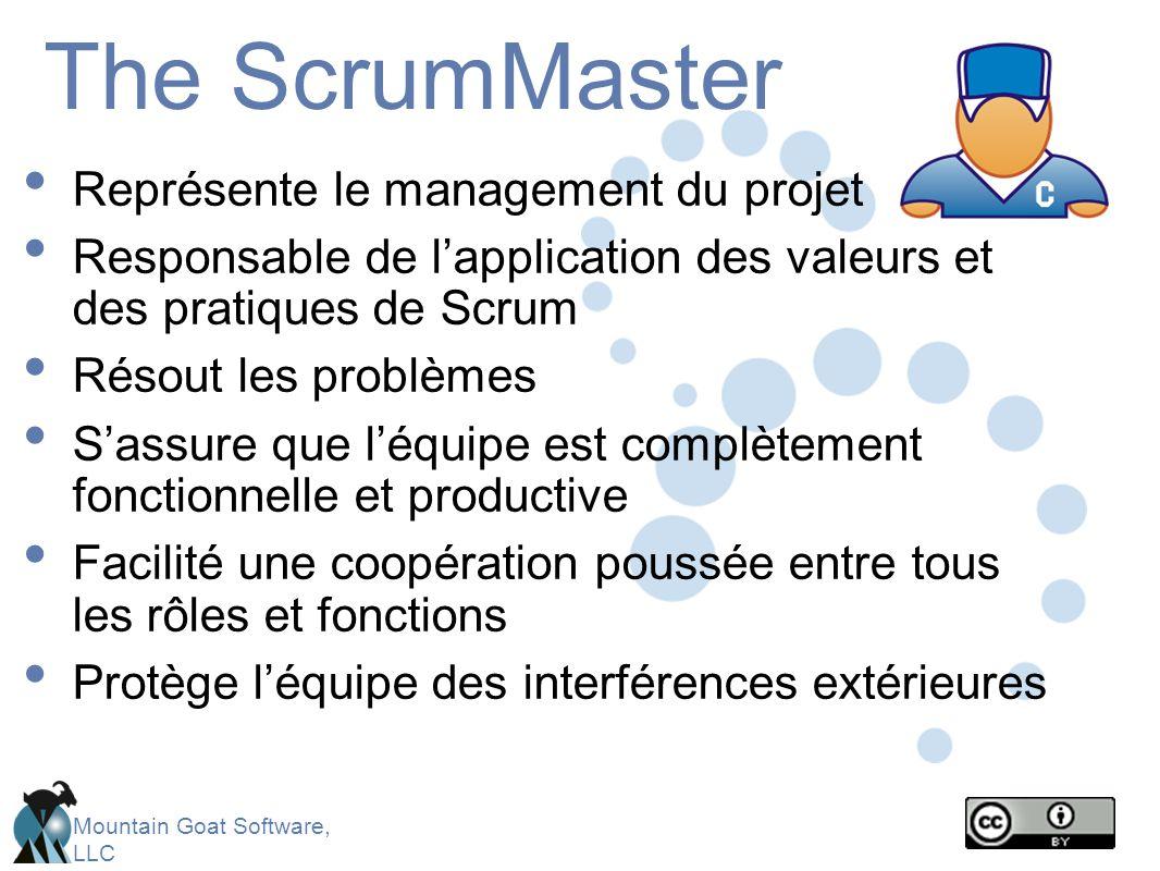 The ScrumMaster Représente le management du projet