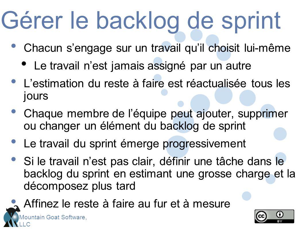 Gérer le backlog de sprint
