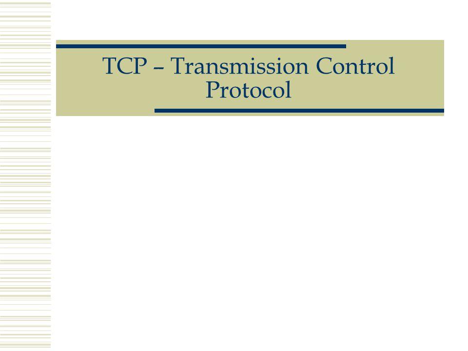 TCP – Transmission Control Protocol
