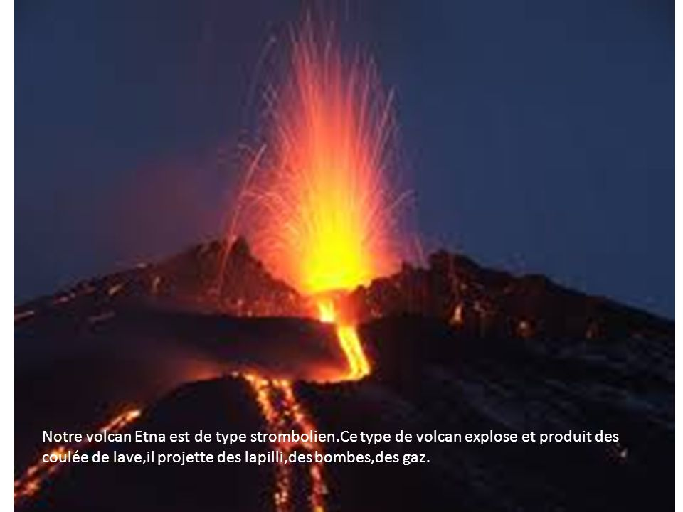 Notre volcan Etna est de type strombolien