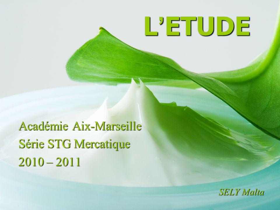 Académie Aix-Marseille Série STG Mercatique 2010 – 2011