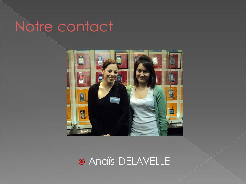 Notre contact Anaïs DELAVELLE