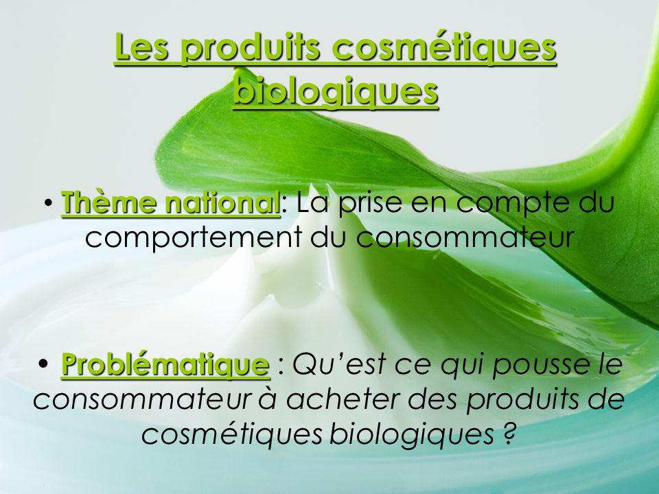 Les produits cosmétiques biologiques