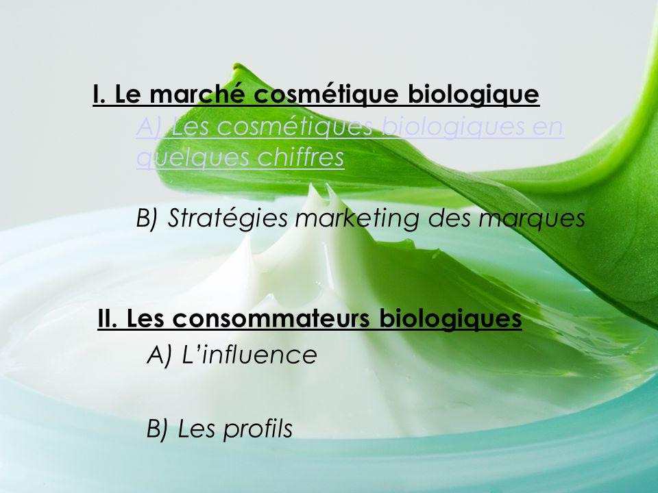 II. Les consommateurs biologiques A) L'influence B) Les profils