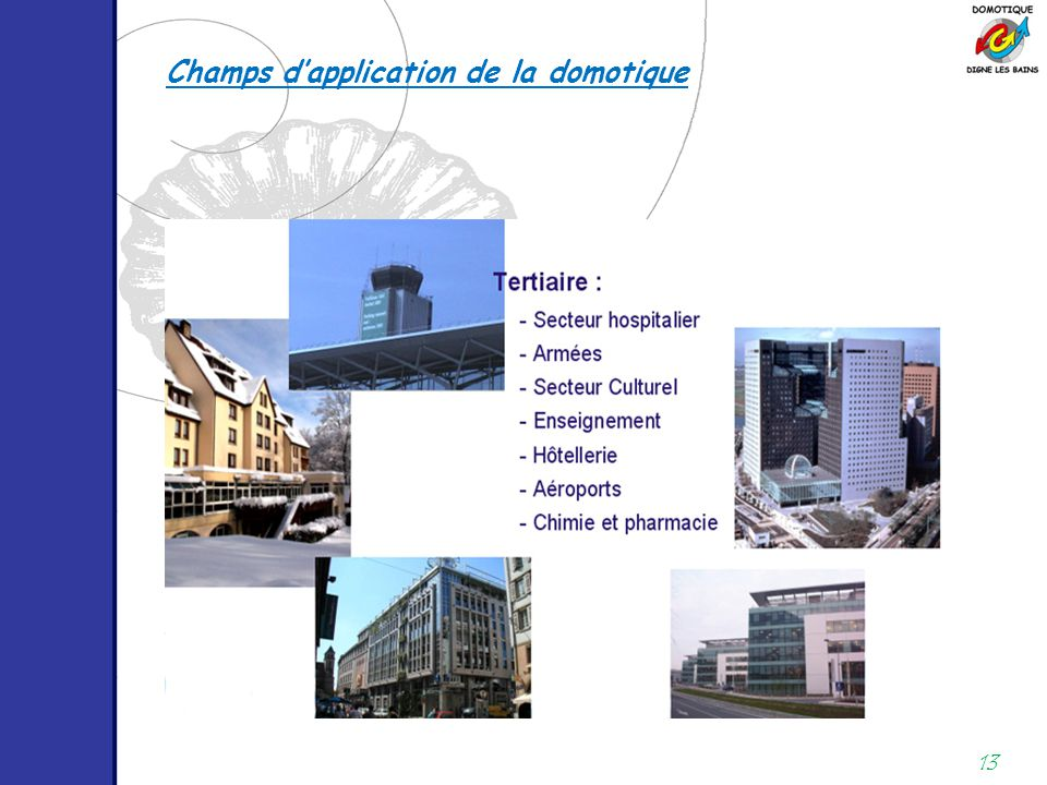 Champs d'application de la domotique