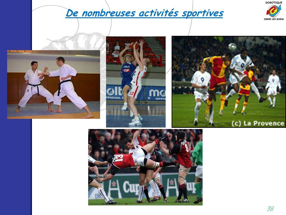 De nombreuses activités sportives