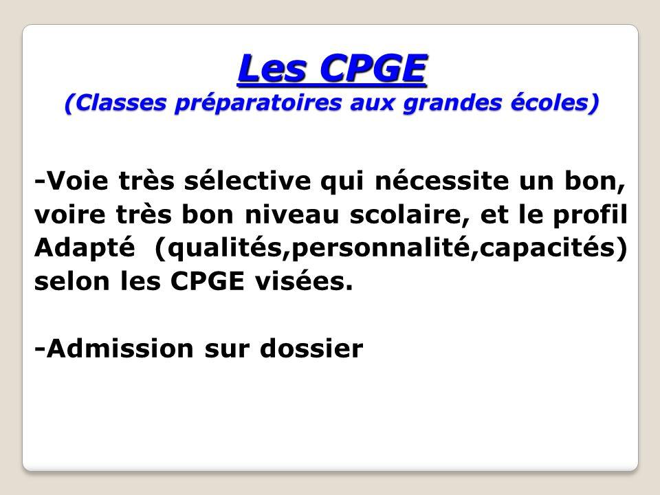 Les CPGE (Classes préparatoires aux grandes écoles)