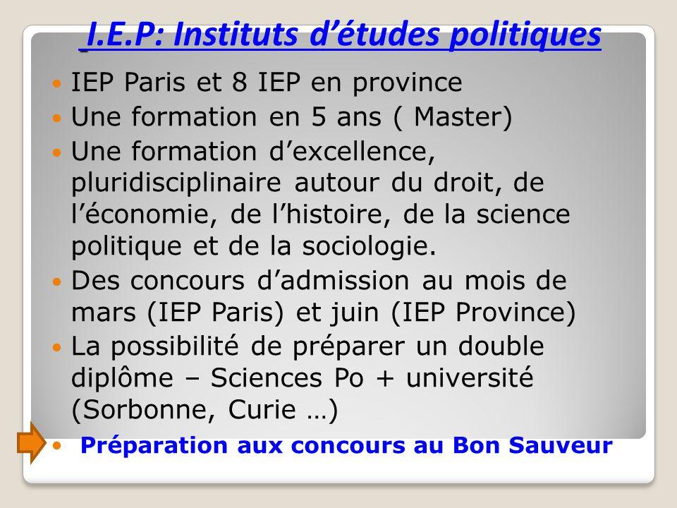 I.E.P: Instituts d'études politiques