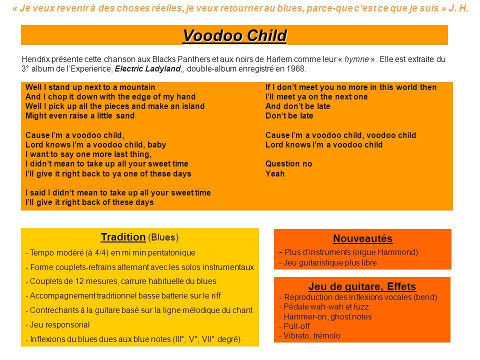 Voodoo Child Tradition (Blues) Nouveautés Jeu de guitare, Effets