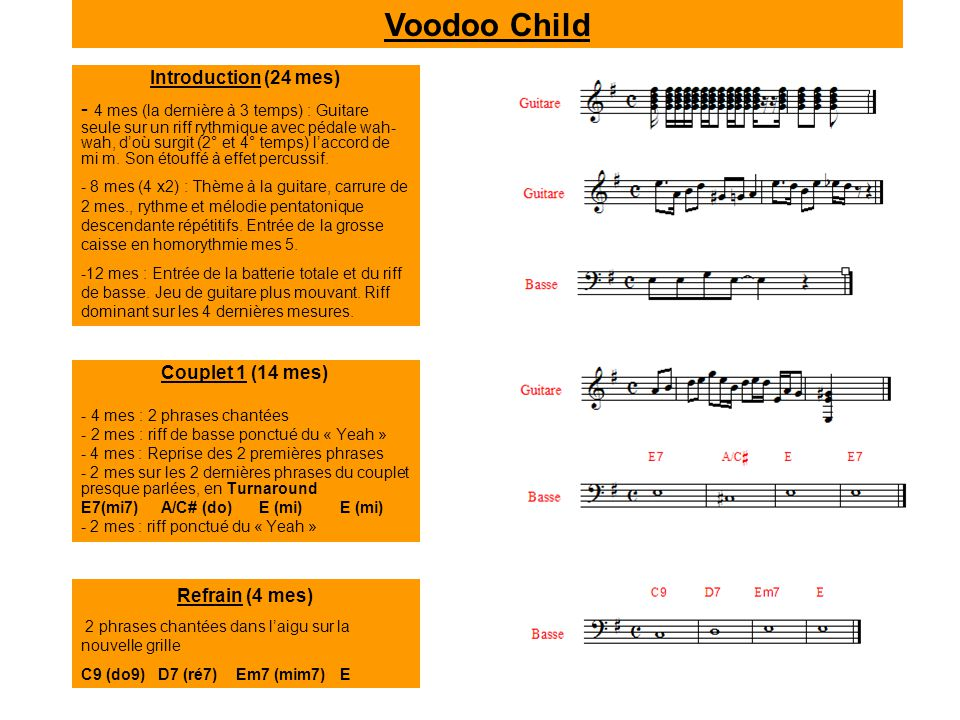 Voodoo Child Introduction (24 mes)