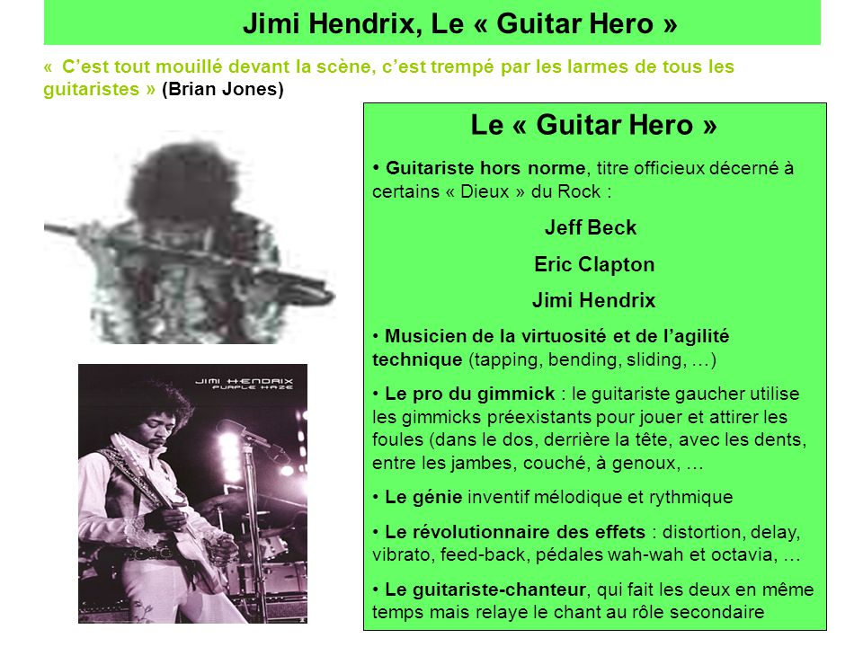 Jimi Hendrix, Le « Guitar Hero »