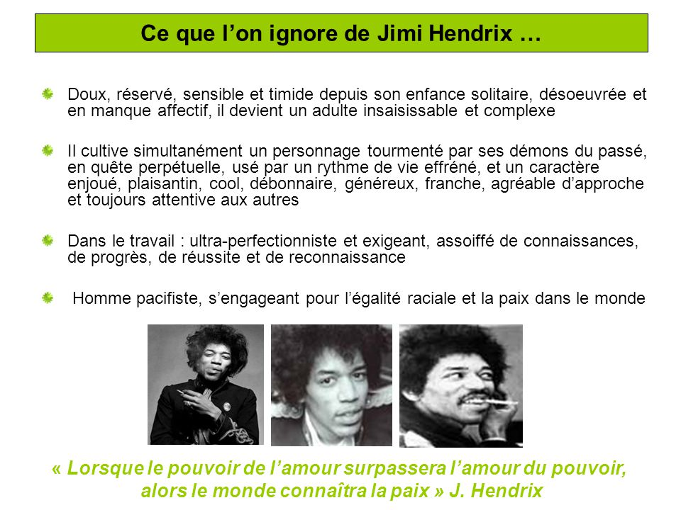 Ce que l'on ignore de Jimi Hendrix …