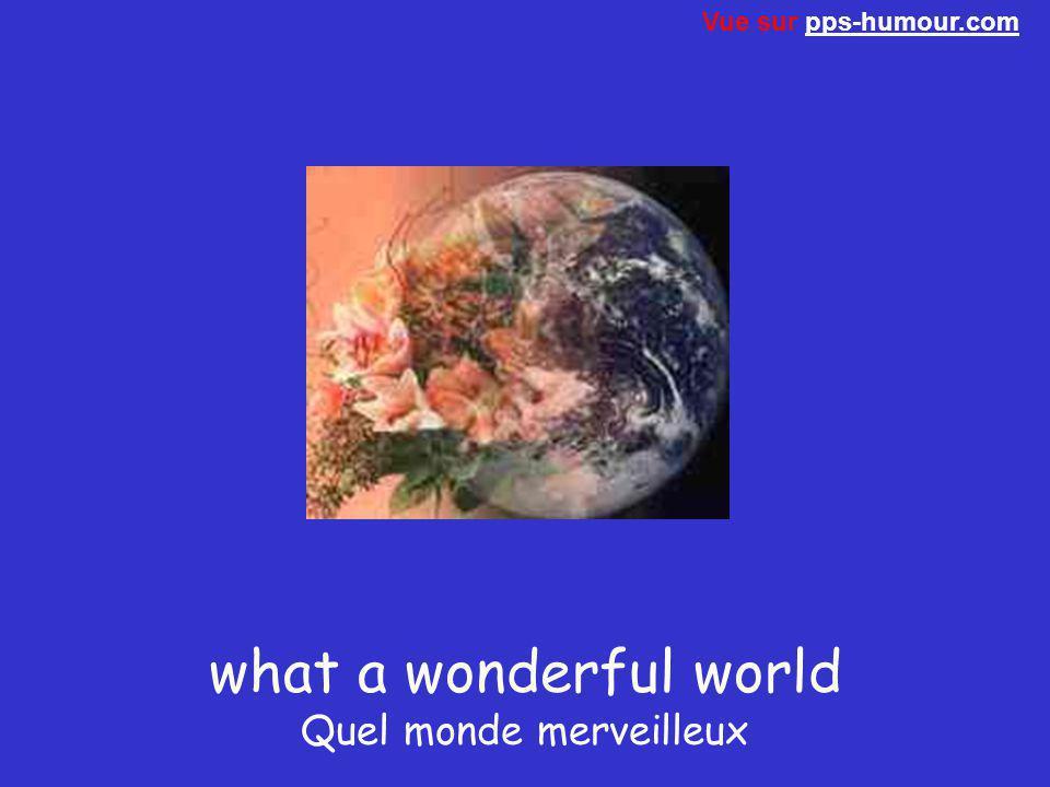 what a wonderful world Quel monde merveilleux