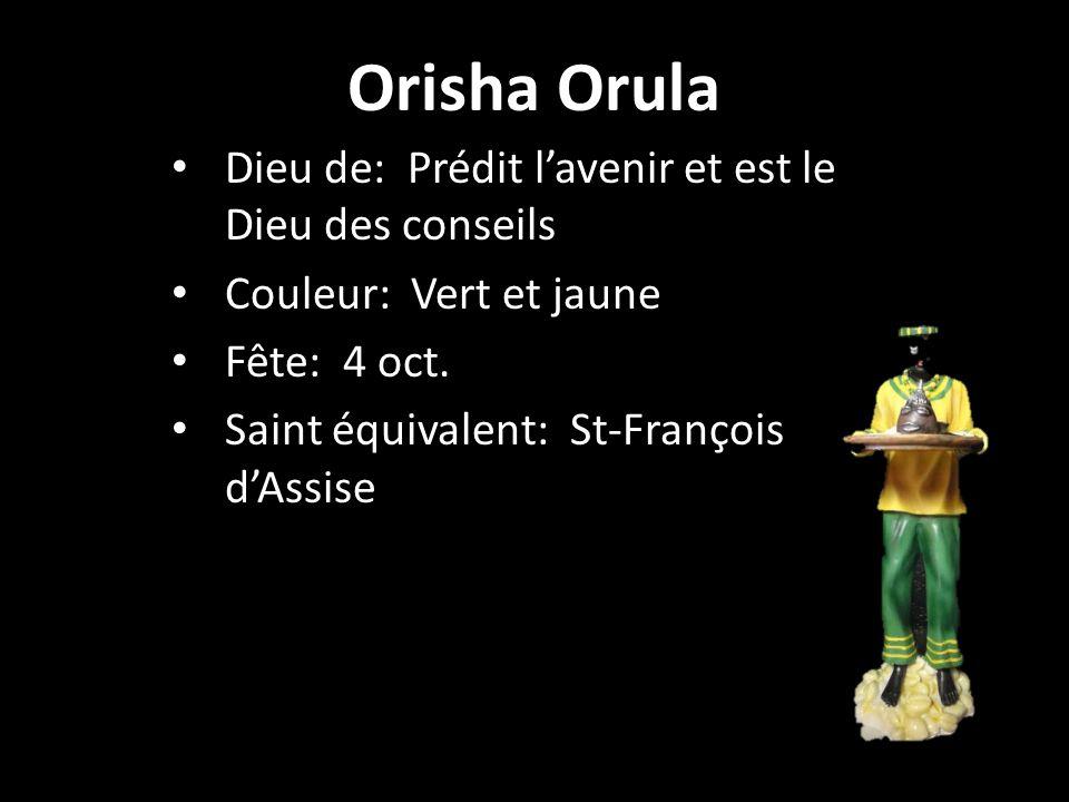 Orisha Orula Dieu de: Prédit l'avenir et est le Dieu des conseils