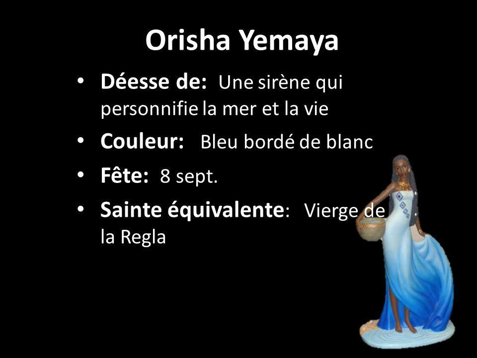 Orisha Yemaya Déesse de: Une sirène qui personnifie la mer et la vie