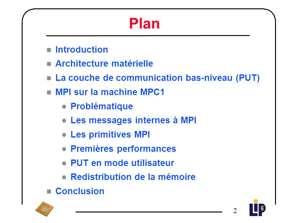 Plan Introduction Architecture matérielle