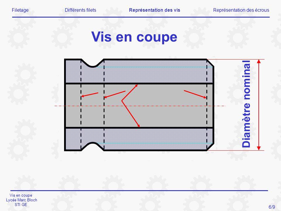 Vis en coupe Lycée Marc Bloch STI GE