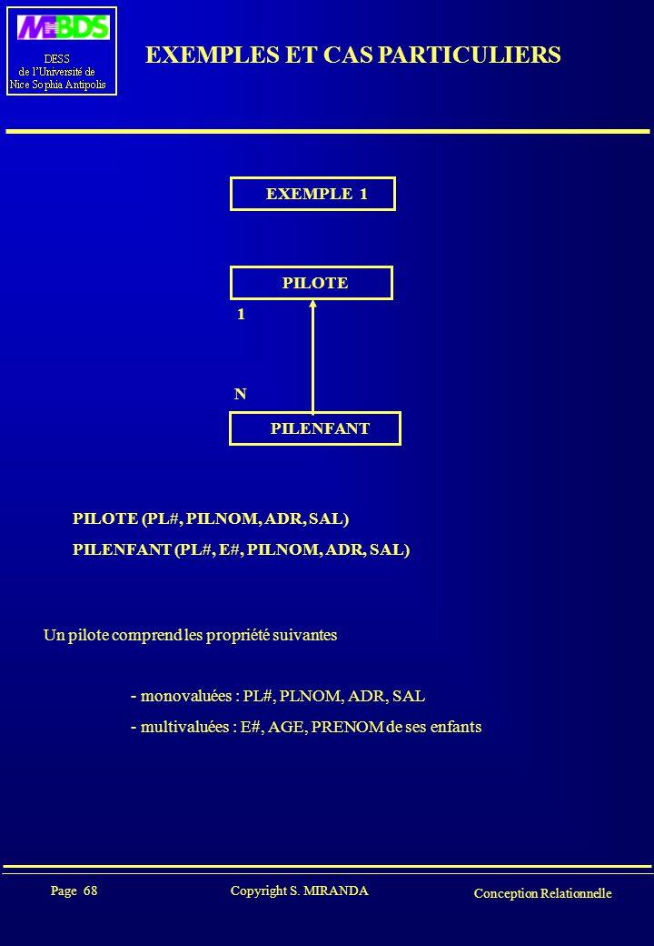 EXEMPLES ET CAS PARTICULIERS