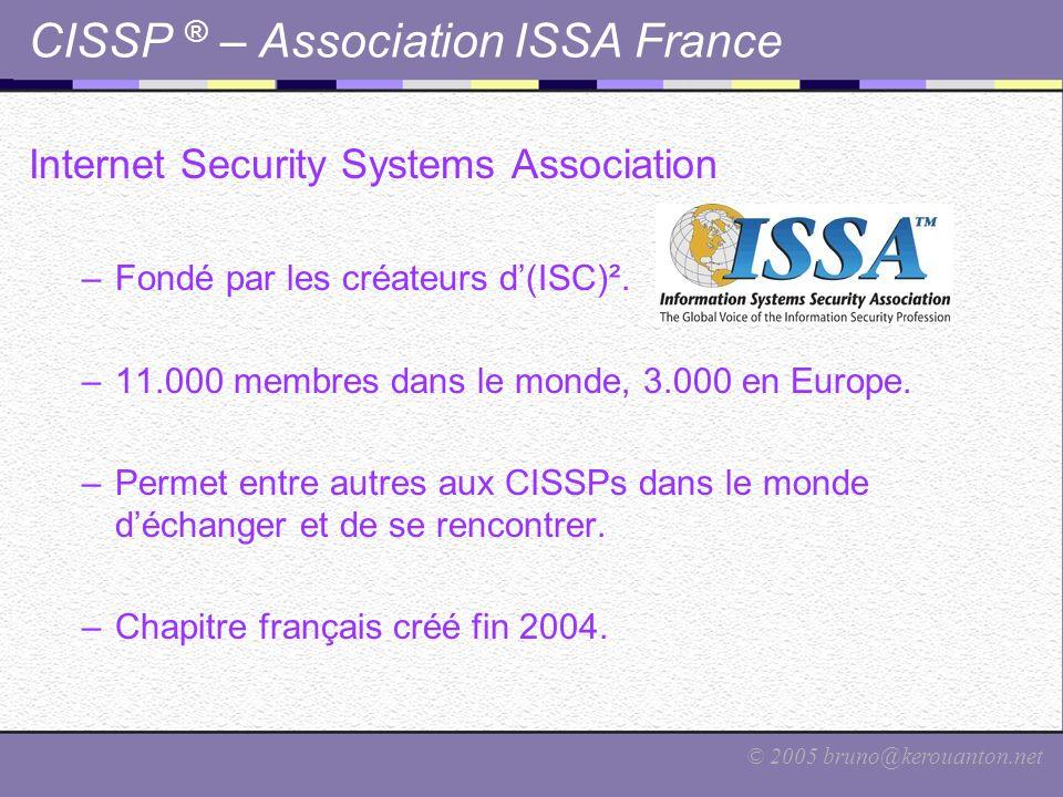 CISSP ® – Association ISSA France