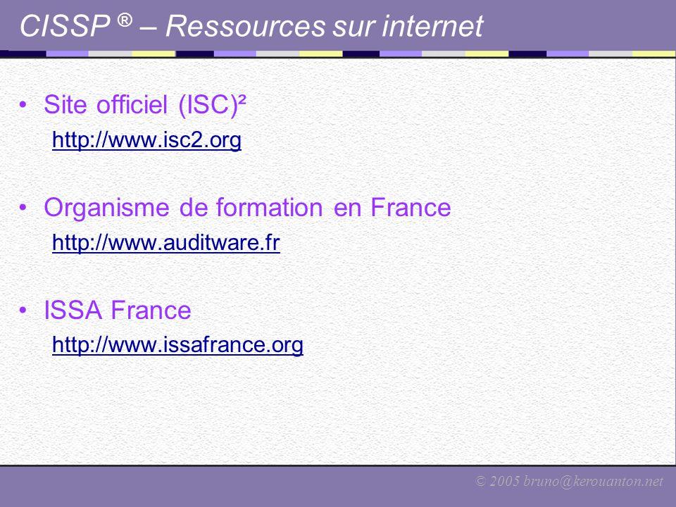 CISSP ® – Ressources sur internet