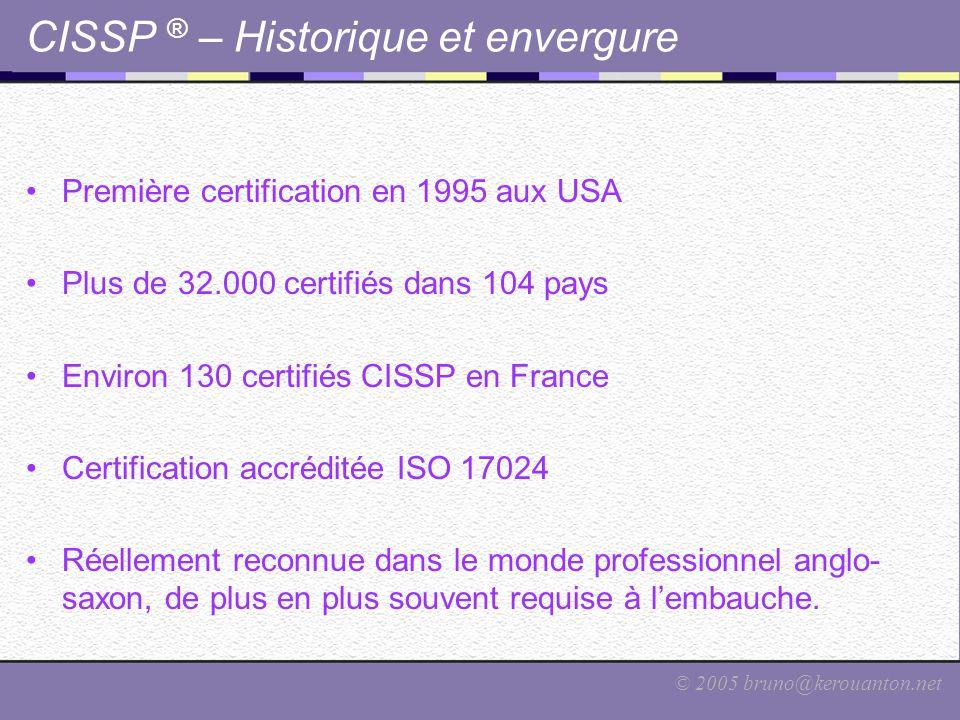 CISSP ® – Historique et envergure