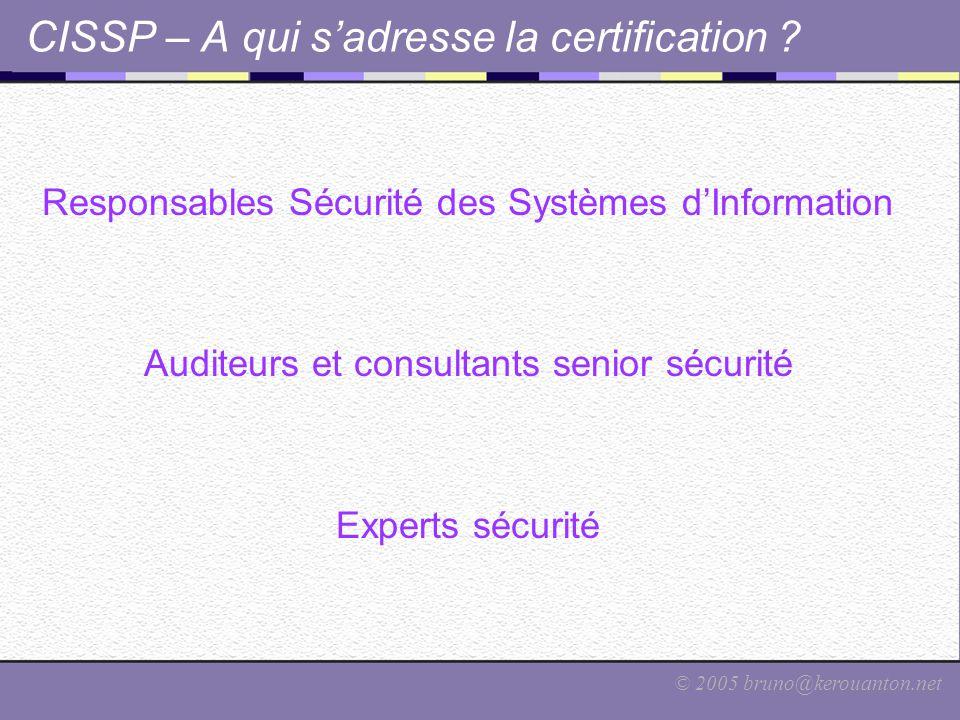 CISSP – A qui s'adresse la certification