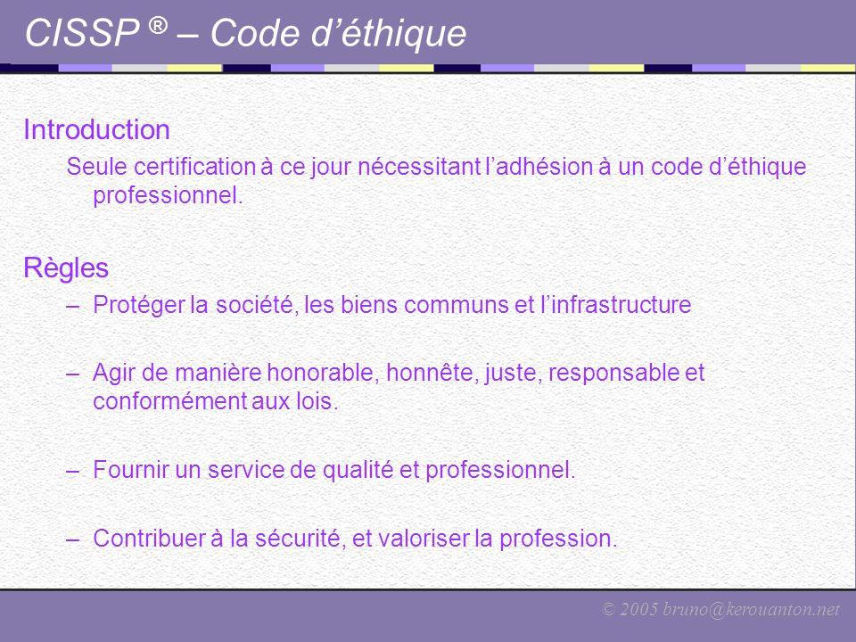 CISSP ® – Code d'éthique