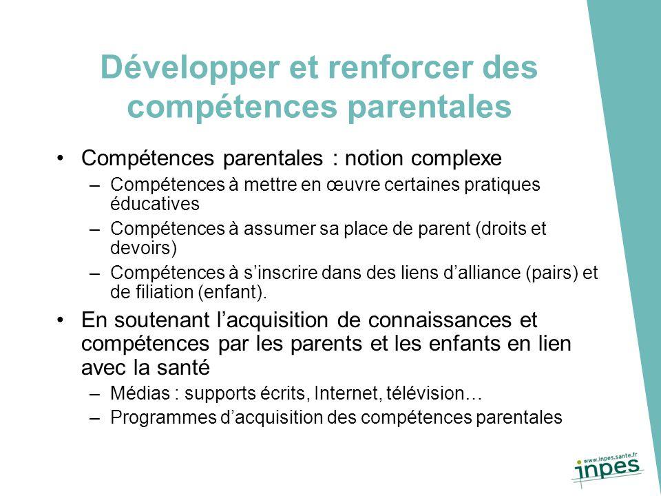 Développer et renforcer des compétences parentales