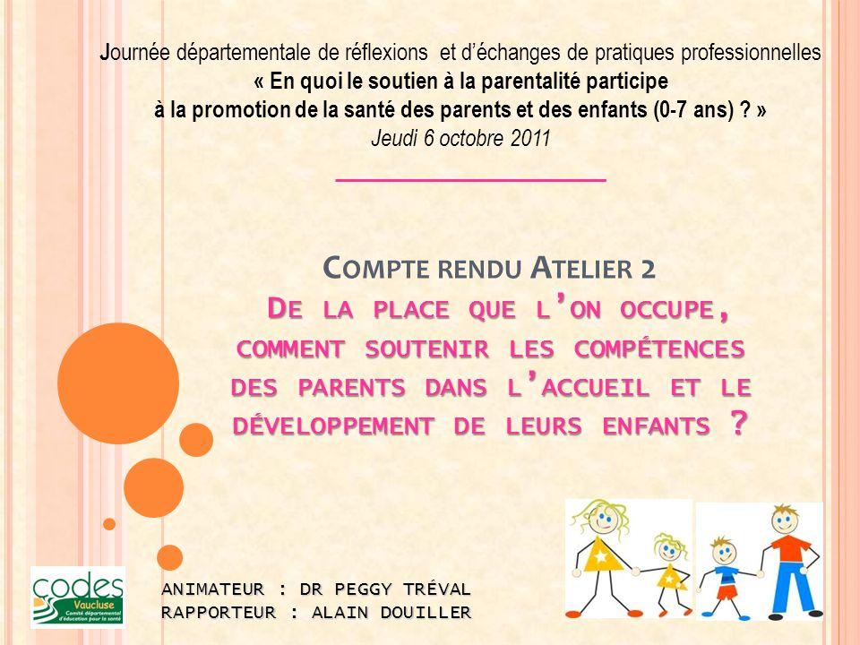Journée départementale de réflexions et d'échanges de pratiques professionnelles