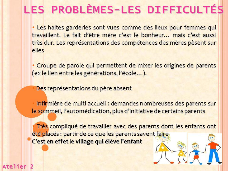 LES PROBLÈMES-LES DIFFICULTÉS