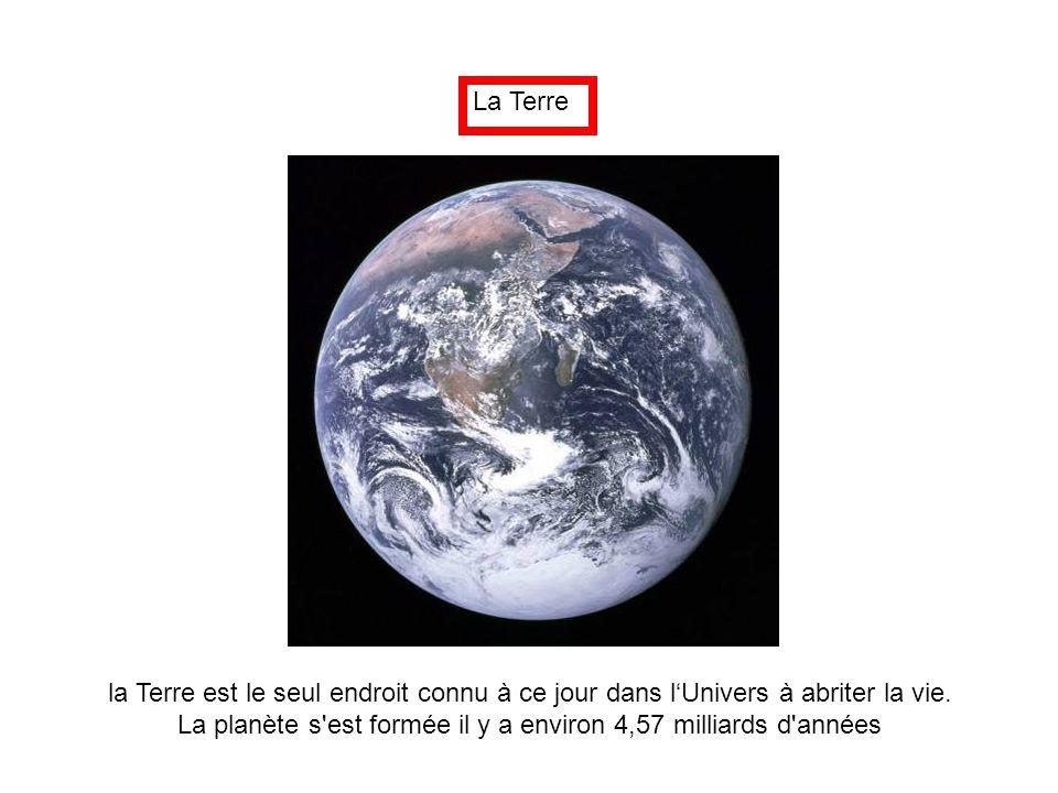 La planète s est formée il y a environ 4,57 milliards d années