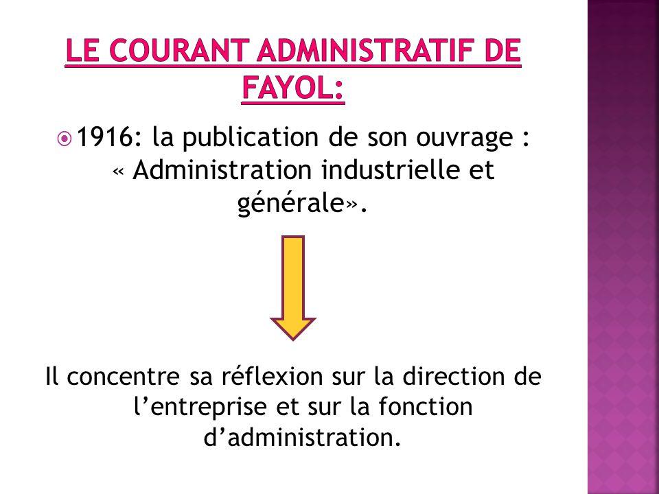 Le courant administratif de fayol: