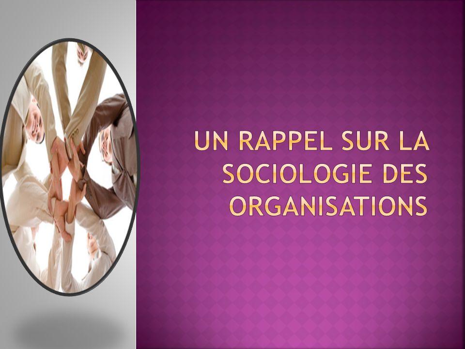 Un rappel sur la sociologie des organisations