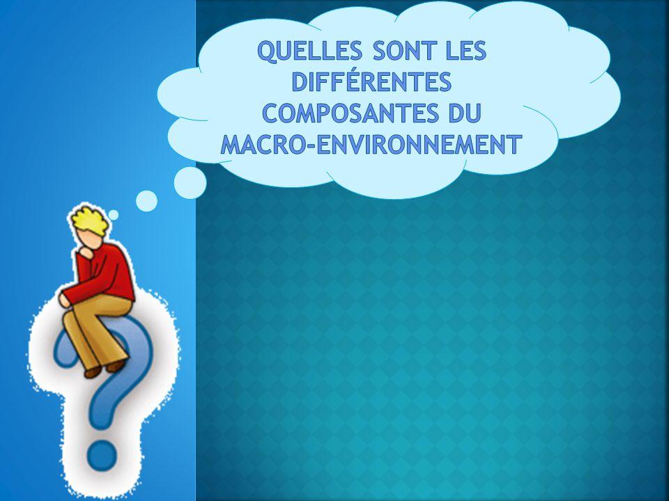 QUELLES SONT LES différentes composantes du macro-environnement